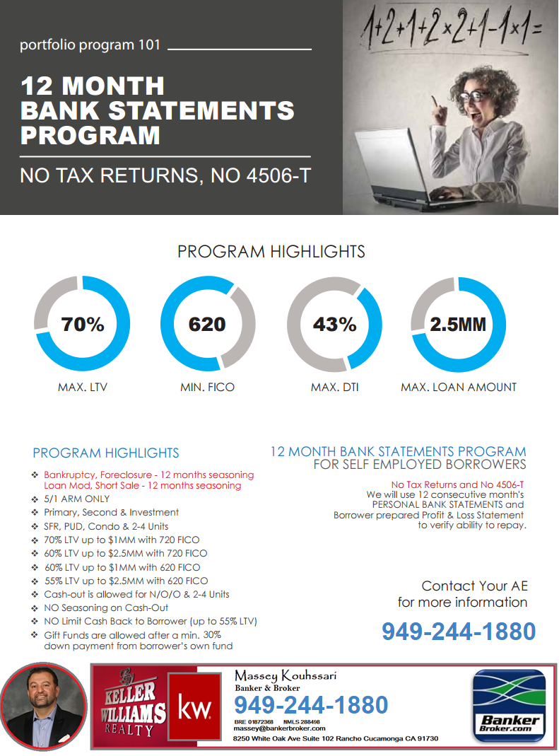 Bank Statement program - Low Doc Mortgage