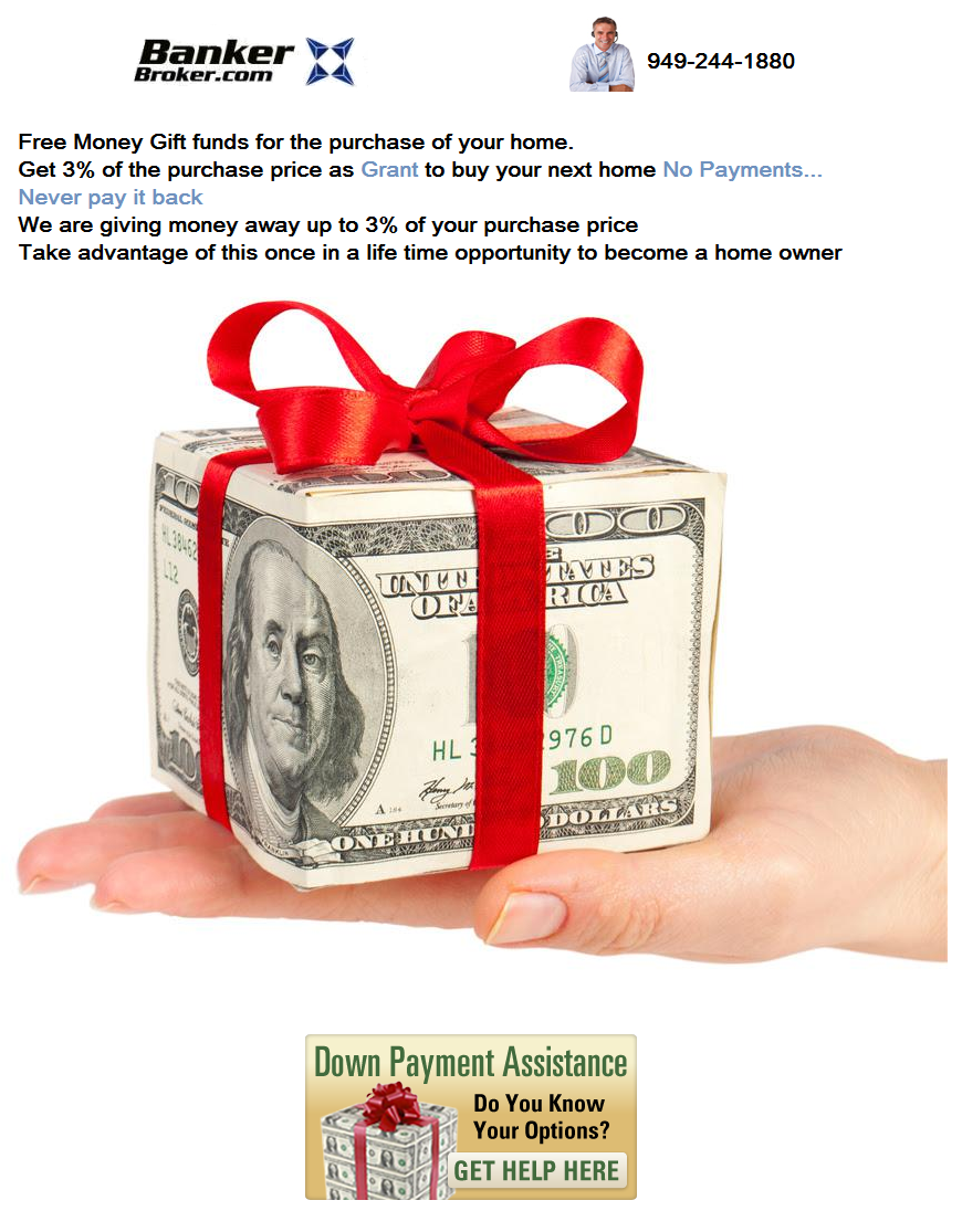 Down Payment Assistance Gift Funds