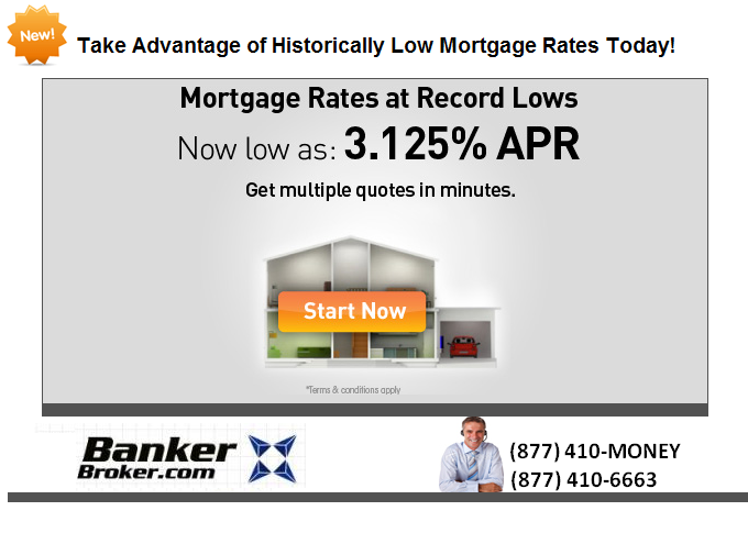 Historical Low Mortgage Rates from BankerBroker.com