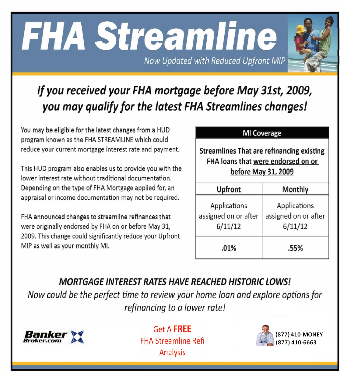 FHA Streamline Updated MIP October 2012