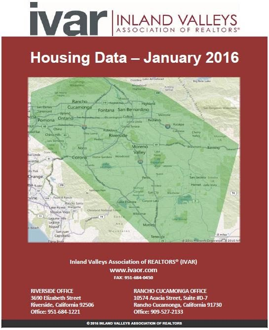 Massey Kouhssari bringing you Housing Data Jan 2016 via IVAR